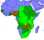 Proportion of deforestation in Sub Saharan Africa