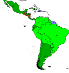 Proportion of deforestation in South America