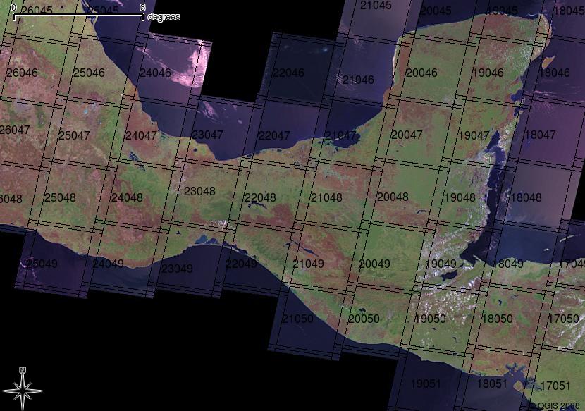 landsat 8 path row map Landsat Paths And Rows For Southern Mexico Duncan Golicher S Weblog landsat 8 path row map