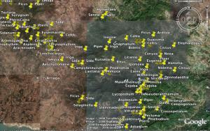 Visualización de las colectas de plantas registrado por Conabio en la Reserva de La Sepultura